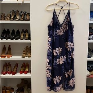 Sheer floral with slip